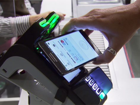Bezahlen mit Handy, für alle Smartphones außer apple I-Phone