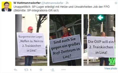 Hattmannsdorfer zu SPÖ-Plakataktion auf Twitter