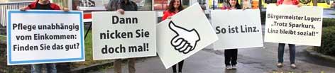 Fotos der SPÖ-Aktion in Linz aus Facebook