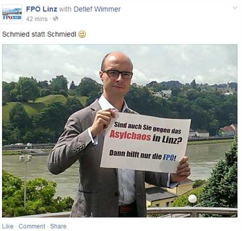Detlef Wimmer (FPÖ) mit Antwort auf SPÖ-Plakate