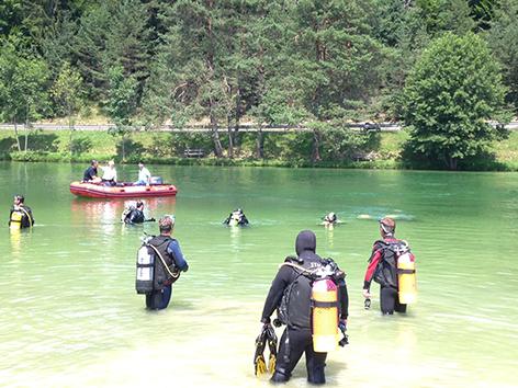 Bergung  Badetoter am Sonnegger See