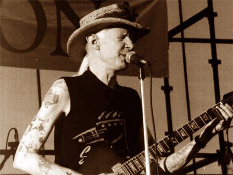 Johnny Winter im Jahr 1990