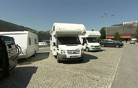 Wohnmobil Raststätte Camper Camping