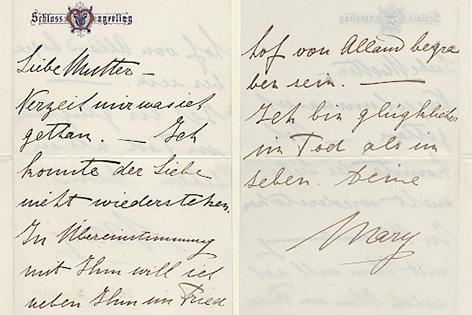 Bisher verloren geglaubte Abschiedsbriefe von Mary Vetsera, der Geliebten von Kronprinz Rudolf, aufgetaucht