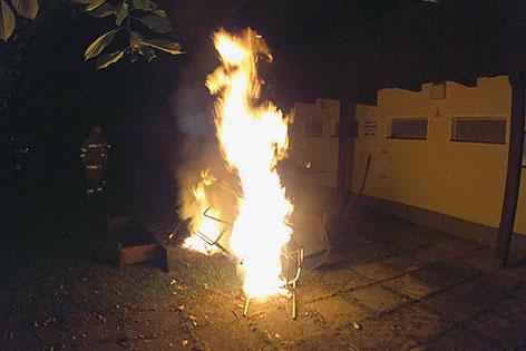 Brand beim ÖGB Jugendheim am Wallersee in Seekirchen