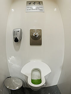 Damen Urinal im Salzburger Kongresshaus