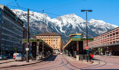 Vorplatz Hauptbahnhof Innsbruck
