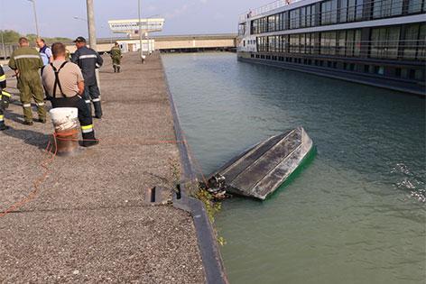 Bootsunfall auf der Donau