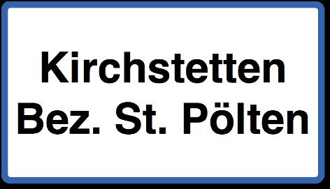 Ortstafel von Kirchstetten (Bez. St. Pölten)
