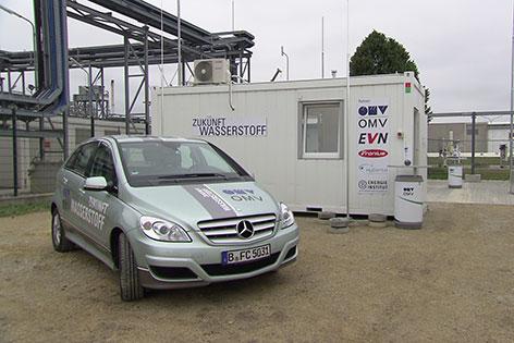 OMV Pilotprojekt Wasserstoff Auersthal