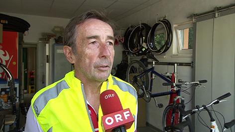 Extremradfahrer Heinz Enz