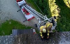 Burg Finstergrün Brand Feuer Ramingstein
