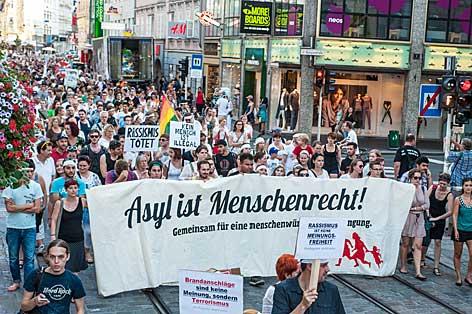 Kundgebung in Linz