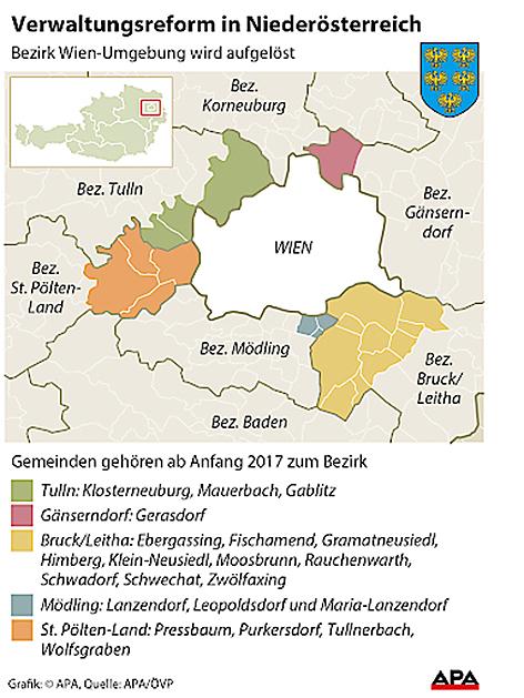 Grafik über den Bezirk Wien Umgebung