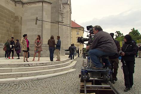 Dreharbeiten zu SOKO Donau in Klosterneuburg