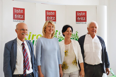 Andreas Brugger, Isabella Gruber, Klubobfrau Andrea Haselwanter-Schneider, Parteiobmann Fritz Dinkhauser