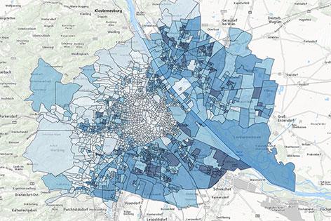 Grafik Wien Karte