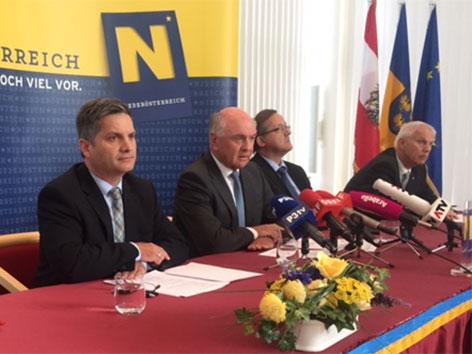 Asyl-Pressekonferenz in Sankt Pölten
