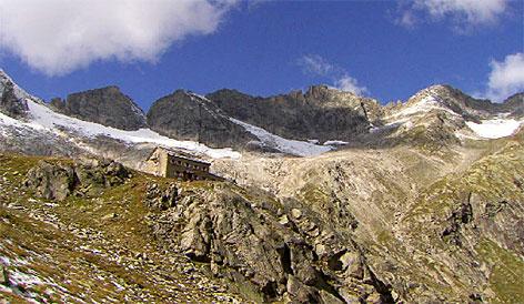 Richterhütte bei Krimml in den Zillertaler Alpen