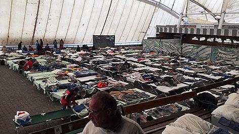 Festivalgelände als Flüchtlingsquartier