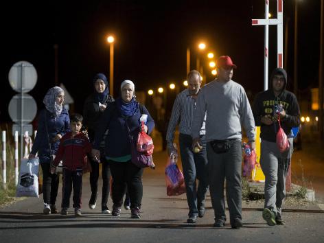 Flüchtlinge in Heiligenkreuz