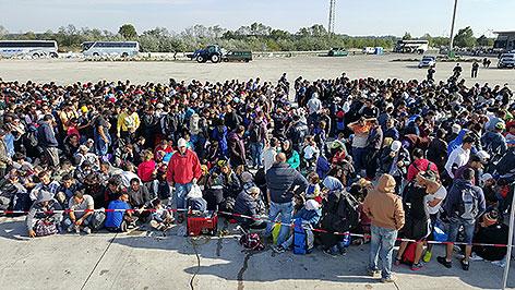 Flüchtlingssituation in Nickelsdorf