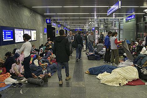 Flüchtlinge am Hauptbahnhof