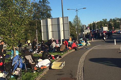 Flüchtlinge Situation Freilassing