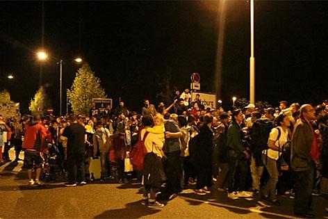 Freilassing Flüchtlinge Flucht Grenze Grenzübergang