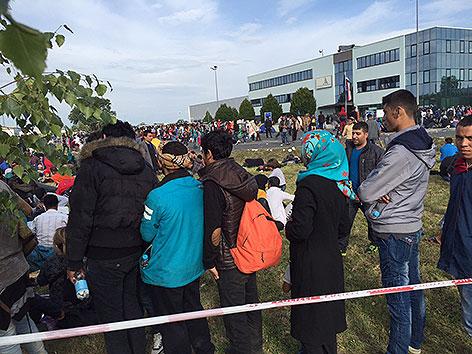 Flüchtlingssituation in Heiligenkreuz