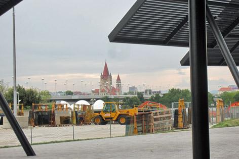 Blick vom DC Tower Richtung Donau