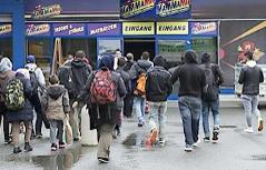 Flüchtlinge Praktiker Baumarkt Graz