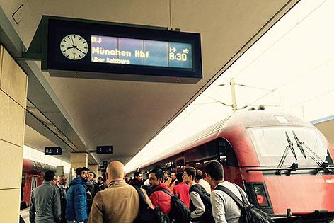 Westbahnhof am 15. September 2015
