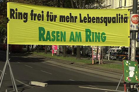 Transparent zu Rasen am Ring