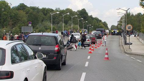 Grenze Freilassing Stau Grenzkontrollen