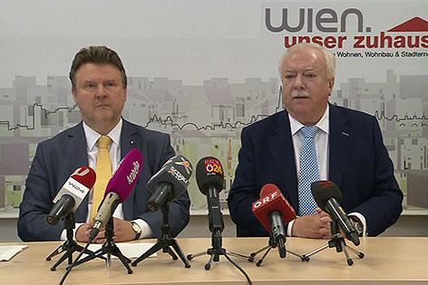 Bürgermeister Michael Häupl und Wohnbaustadtrat Michael Ludwig (beide SPÖ)