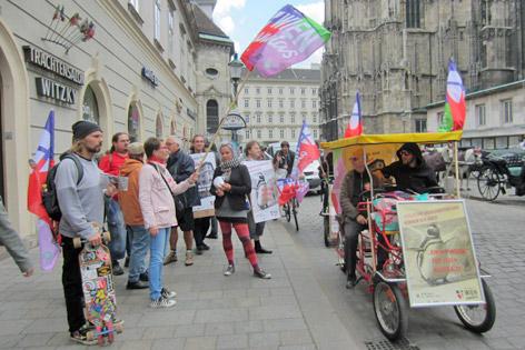 """Straßenwahlkampf """"Wien Andas"""""""