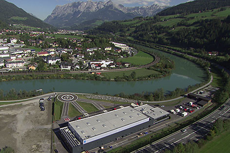 Heliport der Firma Knaus in St. Johann im Pongau