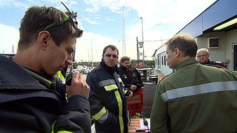 Großübung von Feuerwehr, Polizei, Rotes Kreuz, Wasserrettung auf dem Neusiedler See