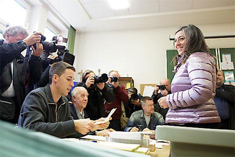 Stimmabgabe Vassilakou