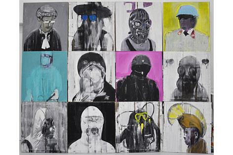 The masks of god's Image, 2012/2013, 81x75cm