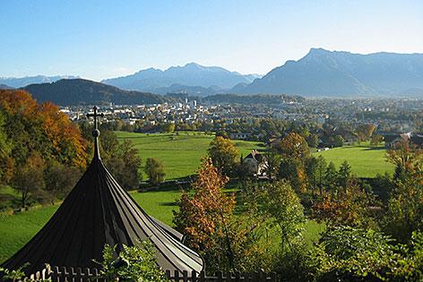Aussicht von Maria Plain auf die Landeshauptstadt Salzburg