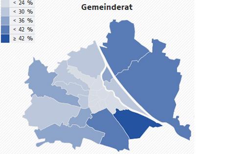 FPÖ-Anteile Gemeinderatswahl 2015
