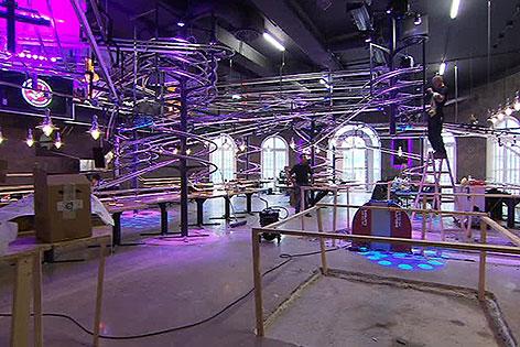 Bauarbeiten für Rollercoaster-Lokal im Wiener Prater