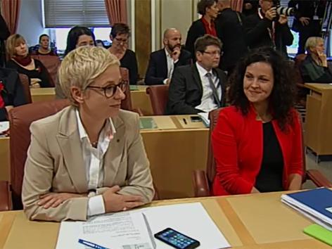 von links: LAg. und desig. Wirtschaftbundchefin Doris Hummer  und ÖVP-Klubchefin Helena Kirchmayr