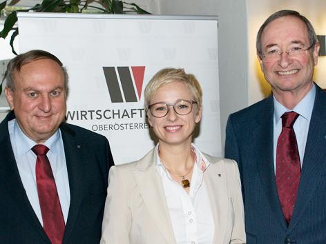 Rudolf Trauner, Doris Hummer, Christoph Leitl