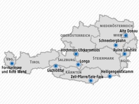 """Grafik mit den Landessiegern von """"Neun Plätze, neun Schätze"""""""