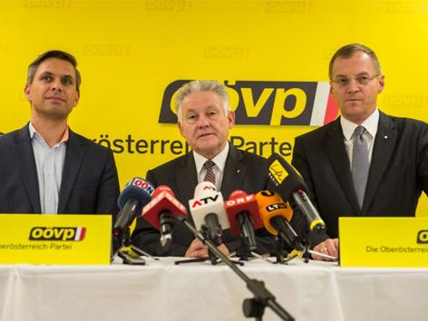 Wolfgang Hattmannsdorfer, Josef Pühringer, Thomas Stelzer