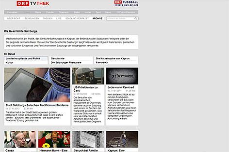 Schwerpunkt zur Geschichte Salzburg in der ORF TVThek
