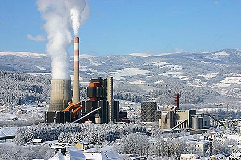 Kraftwerk Voitsberg im Winter